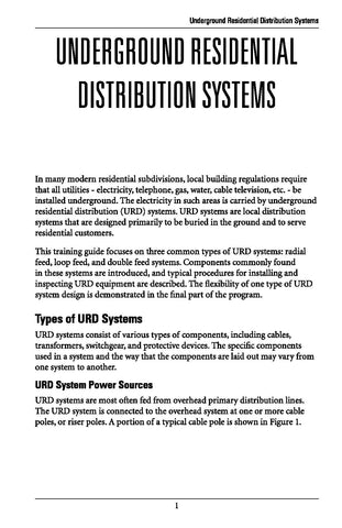 Underground Residential Distribution Systems - Study Guide