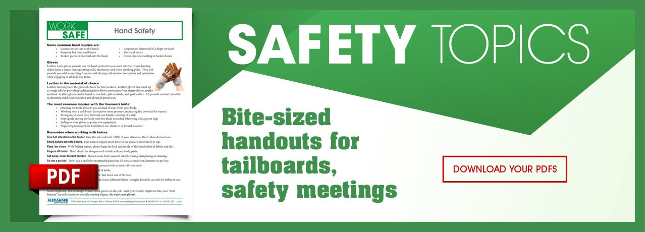 Safety Topics - PDF Bulletins for Downloads