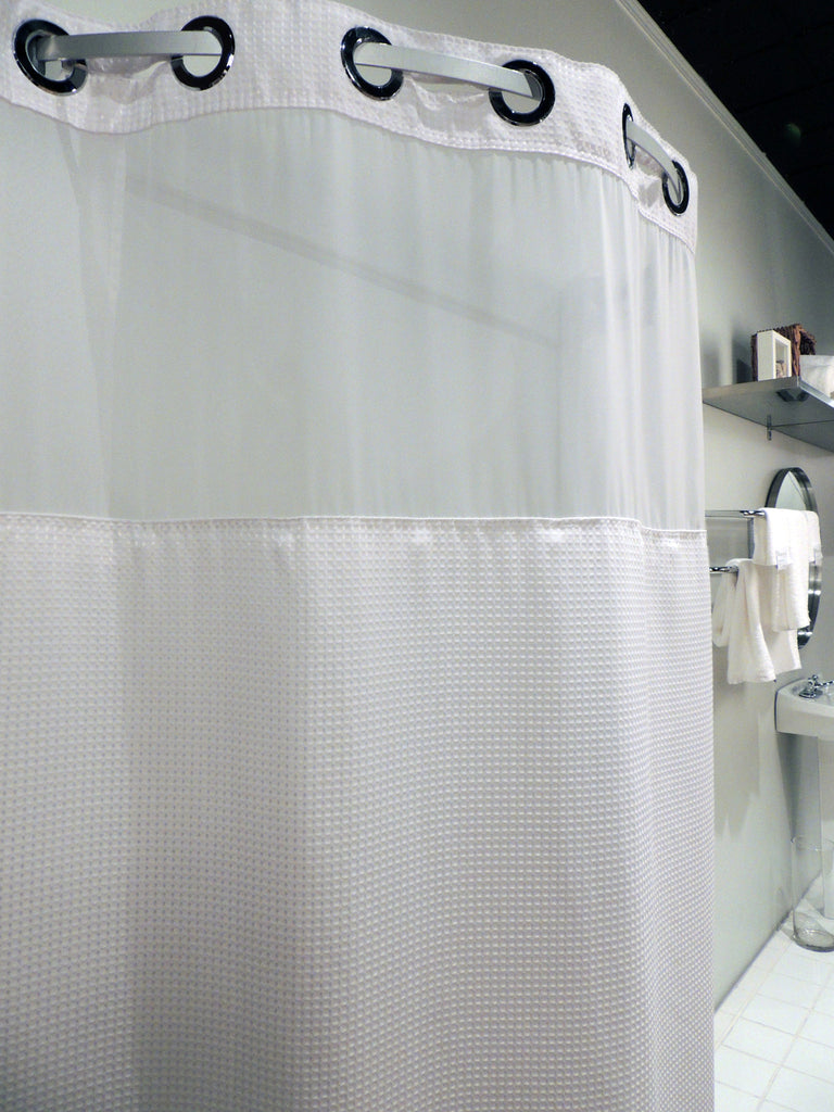 Hook Free Shower Curtain With Window