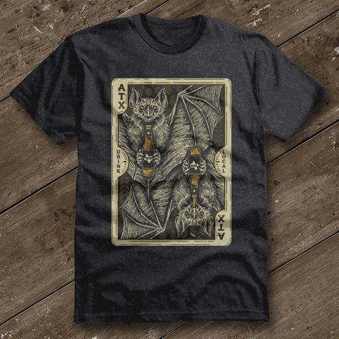 Bat Card Heather Graphite Shirt