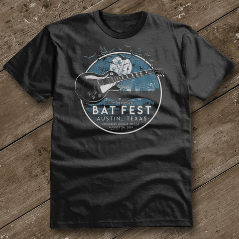 Official Bat Fest 2019 Unisex Tshirt - Black
