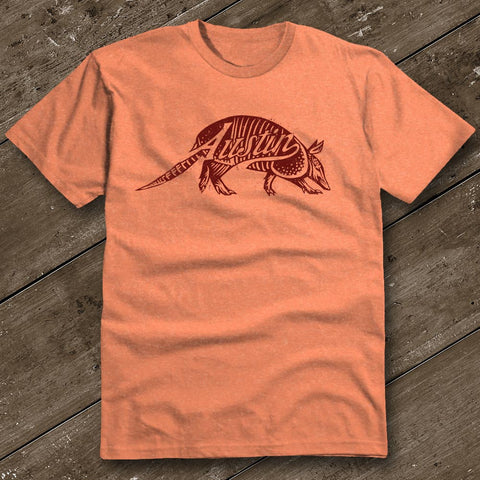 Austin Dillo Heather Orange T-Shirt