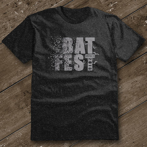 Official Bat Fest 2018 Unisex Tshirt - Heather Charcoal
