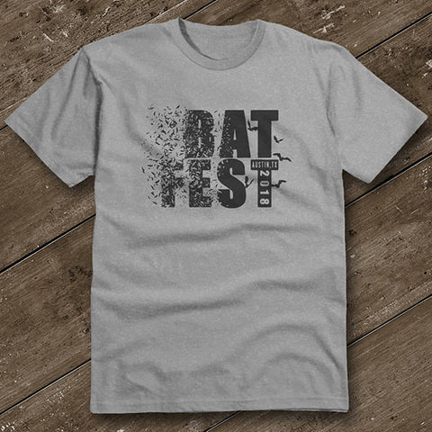 Official Bat Fest 2018 Unisex Tshirt - Heather Grey