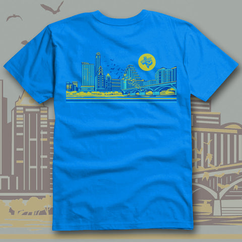 Bat Fest 2015 Neon Blue Unisex T-shirt