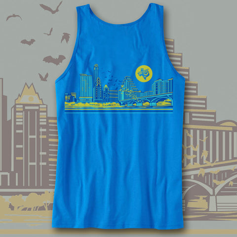 Official Bat Fest 2015 Neon Blue Youth Tank