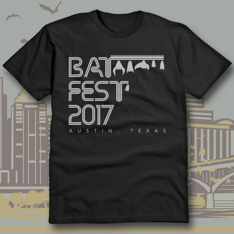 Official Bat Fest 2017 Unisex Tshirt - Black