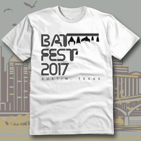 Official Bat Fest 2017 Unisex Tshirt - White
