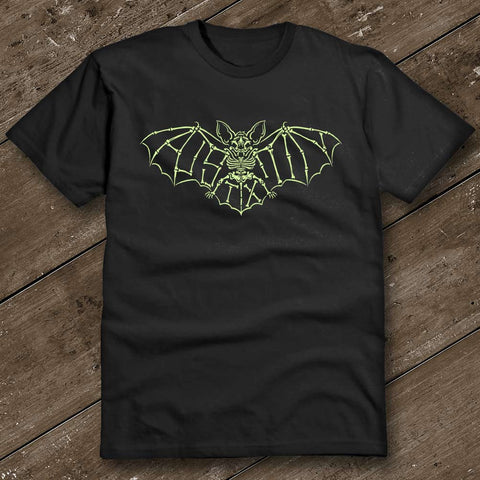 Austin Glow Bat in the Dark Black T-Shirt