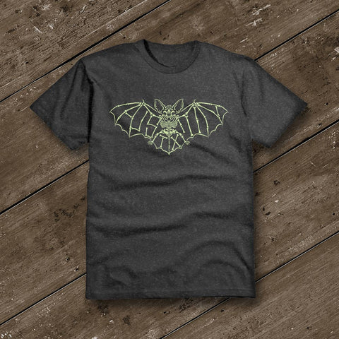 Austin Glow Bat in the Dark Heather YOUTH T-Shirt