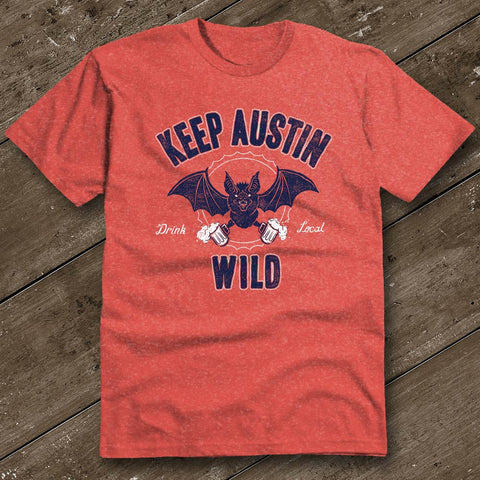 Keep Austin Wild Heather Red T-Shirt