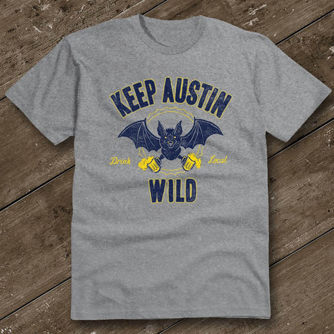 Keep Austin Wild Heather Grey T-Shirt