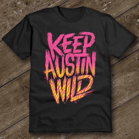 Keep Austin Wild Rad Black T-Shirt