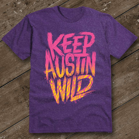 Keep Austin Wild Rad Purple T-Shirt