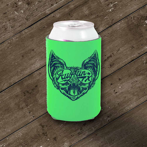 Shady Bat Koozie - Neon Green