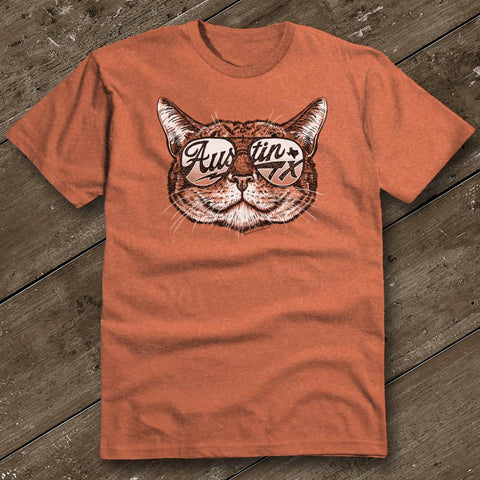 Shady Cat Heather Orange T-Shirt