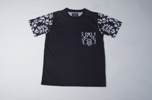 TRIBE POCKET TEE IN BLACK