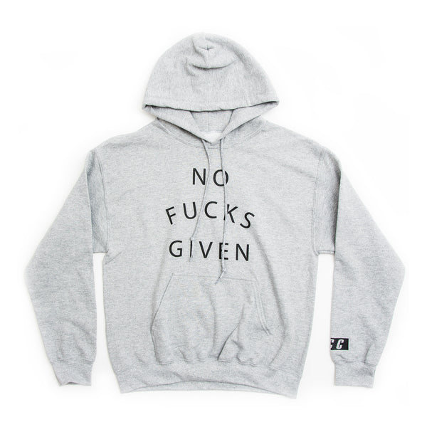 NO FUCKS GIVEN HOODIE GREY