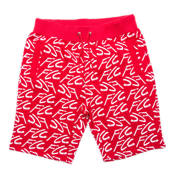 FCC GRAFFITI SHORTS RED