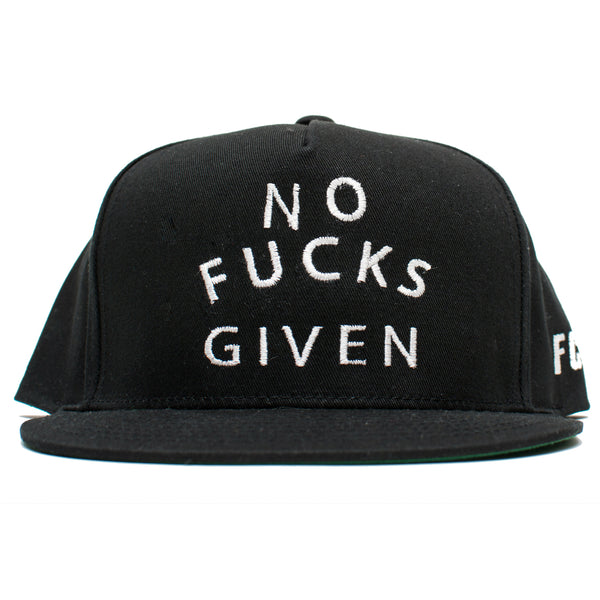 NO FUCKS GIVEN SNAPBACK BLACK