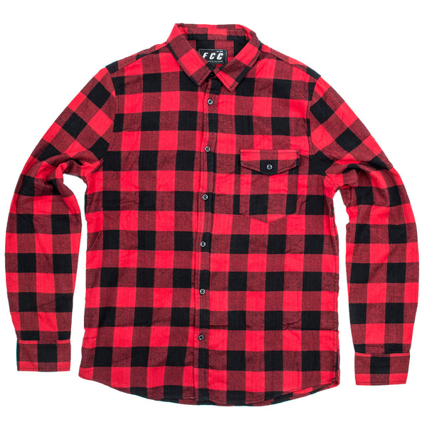 FCC FLANNEL SHIRT RED