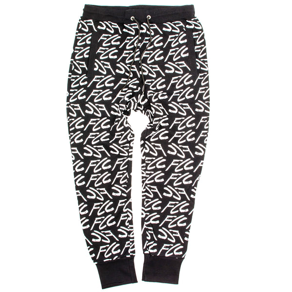 FCC GRAFFITI SWEATPANTS BLACK