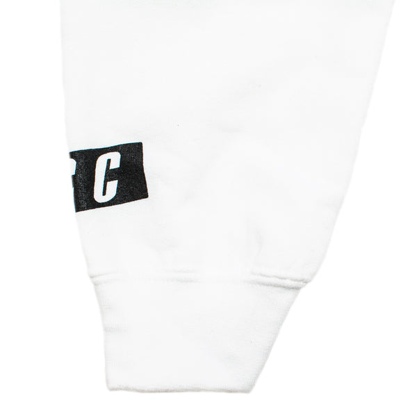 FCC NO FUCKSBOYS CROP HOODIE WHITE