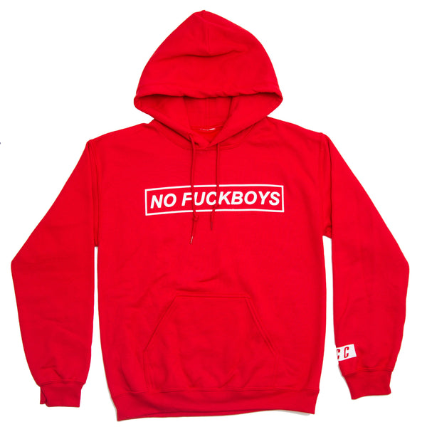 FCC NO FUCKSBOYS HOODIE RED