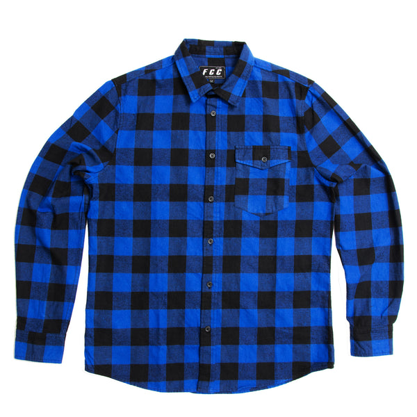 FCC FLANNEL SHIRT BLUE