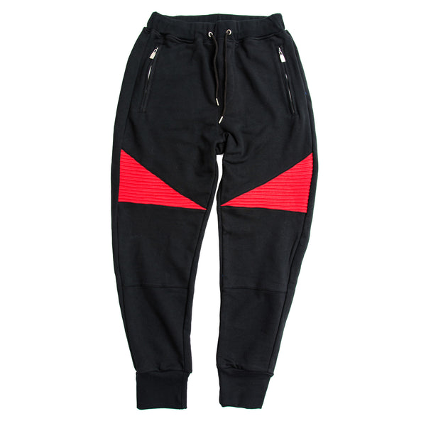 FCC BIKER JOGGERS BLACK/RED
