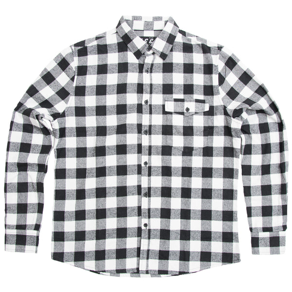 2ff3d99ce6c175 FLANNEL SHIRT BLACK/WHITE | FIRST CLASS CLOTHING