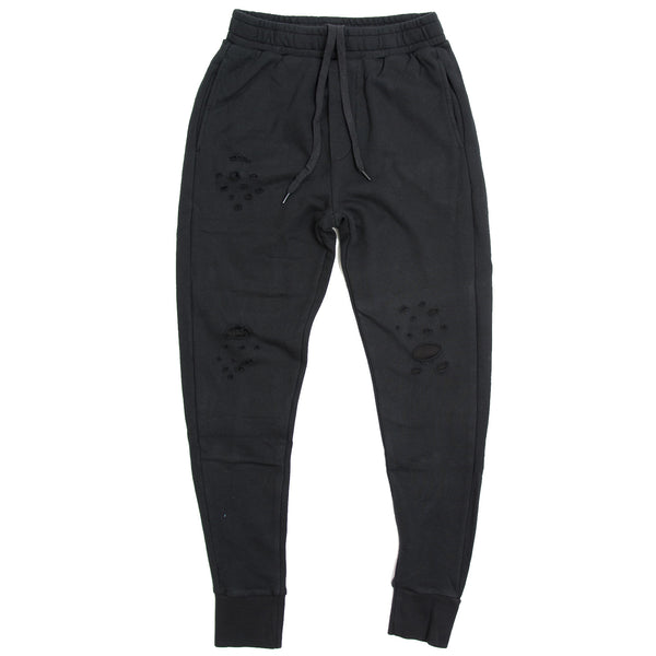 DISTRESS JOGGERS BLACK