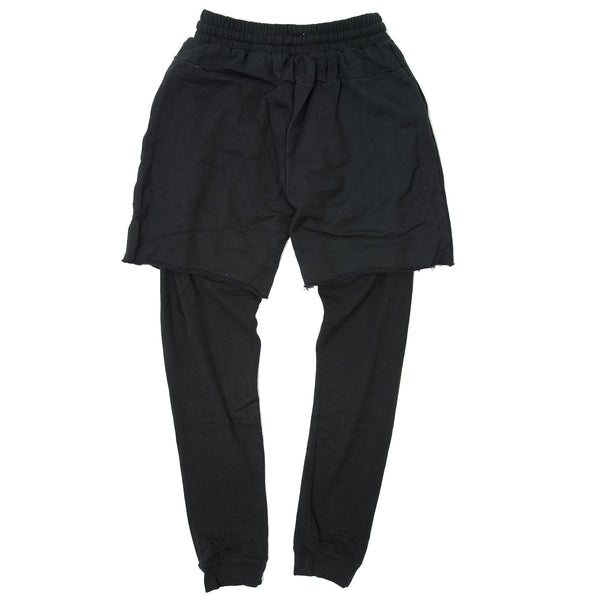 DISTRESS SWEATPANTS BLACK