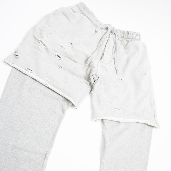 DISTRESS SWEATPANTS GREY