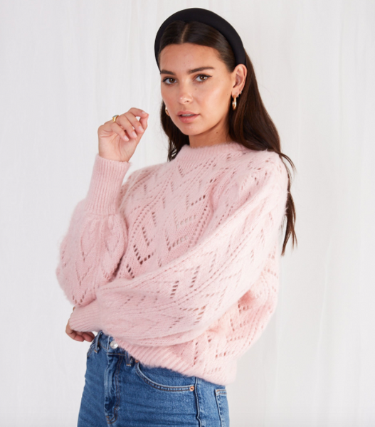 shop paisleigh pointelle jumper at pretty lavish