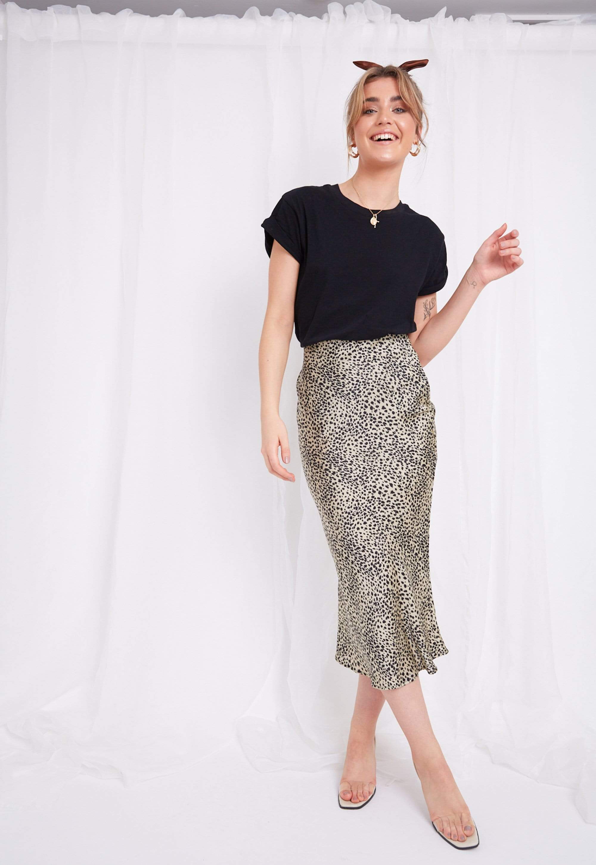 Shelby Slip Skirt - Leopard, Bottoms - Pretty Lavish