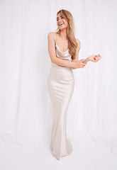 Keisha Slip Maxi Dress - Champagne, Dress - Pretty Lavish