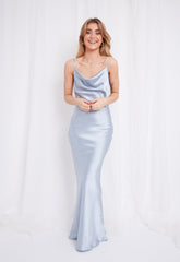 Keisha Slip Maxi Dress - Light Blue,  - Pretty Lavish