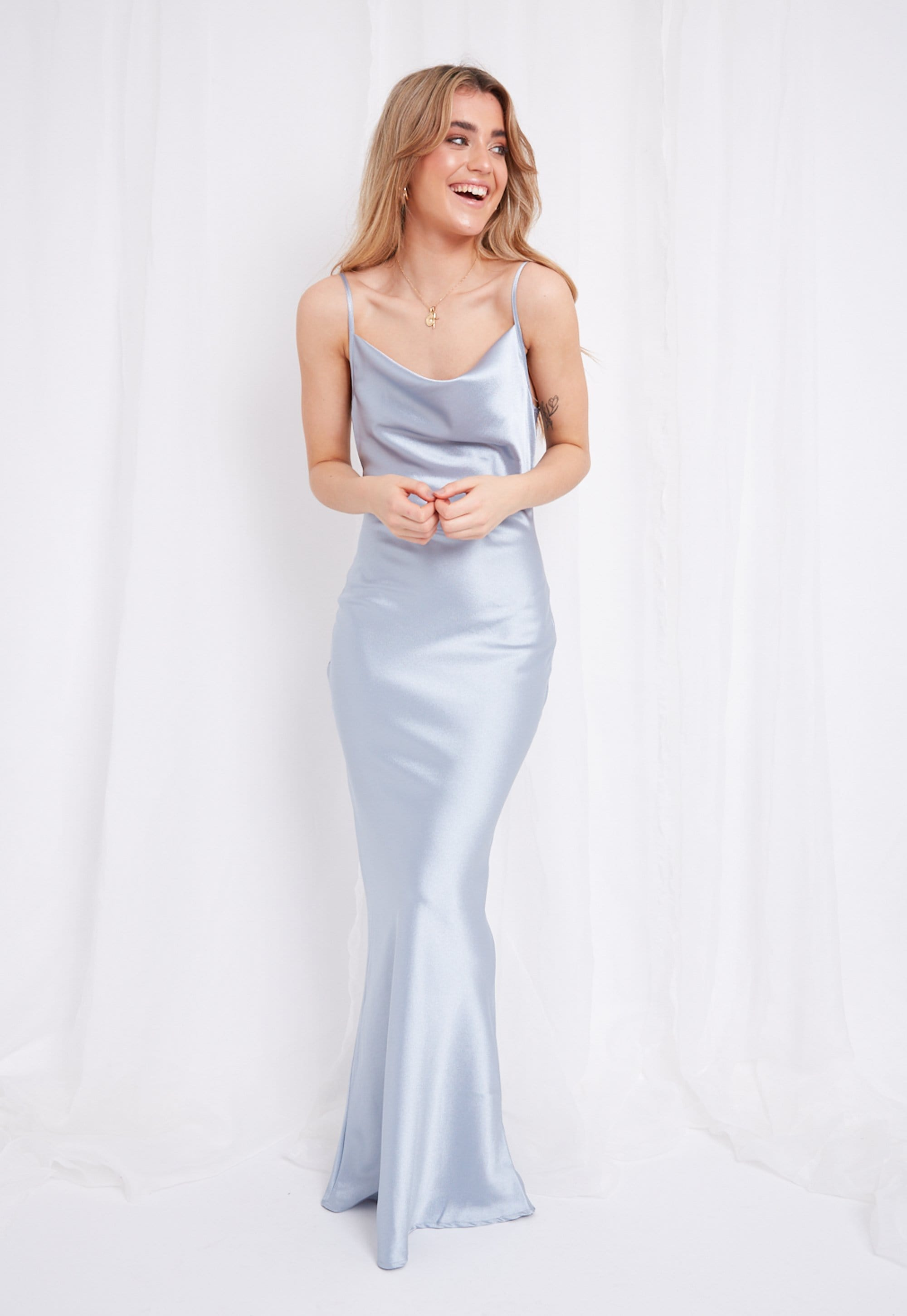 Keisha Slip Maxi Dress , Light Blue