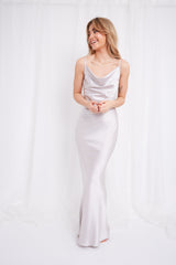 Keisha Slip Maxi Dress - Silver, Dress - Pretty Lavish