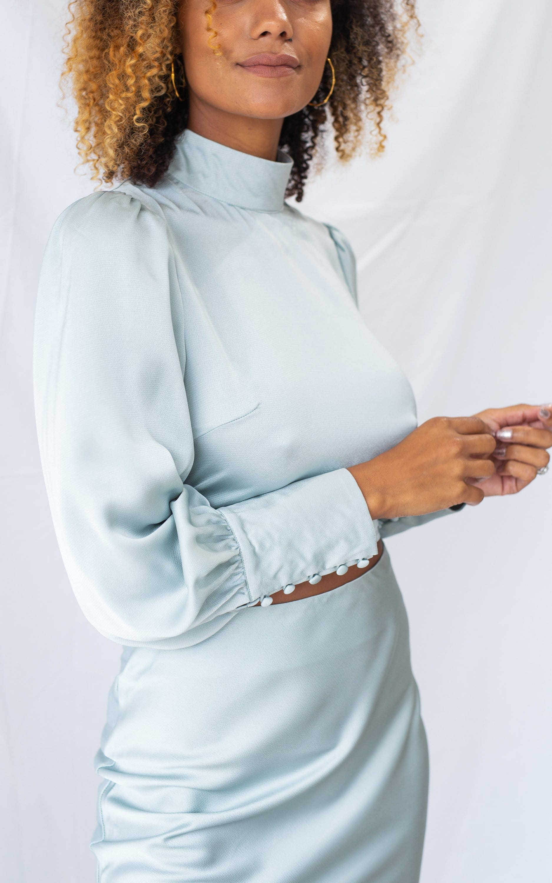 Phoenix Backless Blouse - Mint Green, Top - Pretty Lavish