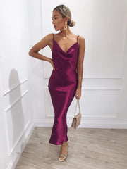 Keisha Slip Dress - Magenta, Dress - Pretty Lavish