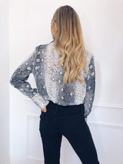 Amara Shirt - Snake Print, Top - Pretty Lavish