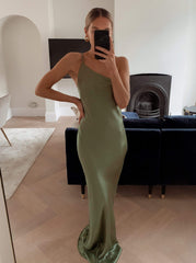BRIDESMAIDS Amelia Maxi Dress - Olive Green, Dress - Pretty Lavish
