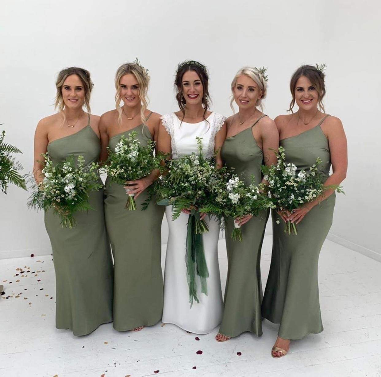 Olive Green Bridal Party 59 Off Plykart Com