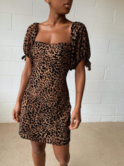 Robin Mini Dress - Velvet Leopard, Dress - Pretty Lavish