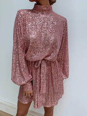 Fifi Sequin Dress - Pink, Dress - Pretty Lavish
