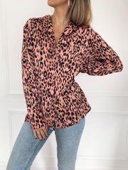 Amara Shirt - Pink Leopard, Top - Pretty Lavish