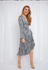 Valery Dress - Blue Zebra,  - Pretty Lavish