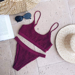 Dulcie Bikini - Wine, Swimwear - Pretty Lavish
